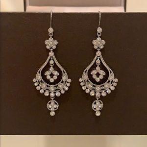 "Stunning Crystal Chandelier Earrings 2.5"""